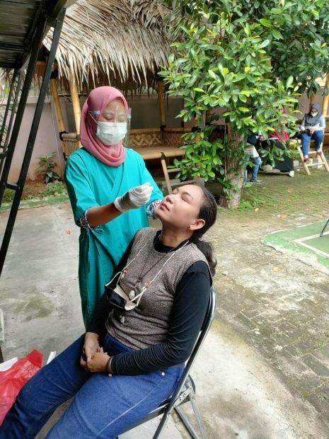swab antigen karyawan BPS Jakarta Utara